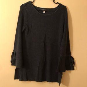 Lauren Conrad Grey Sweater with Bell Sleeves